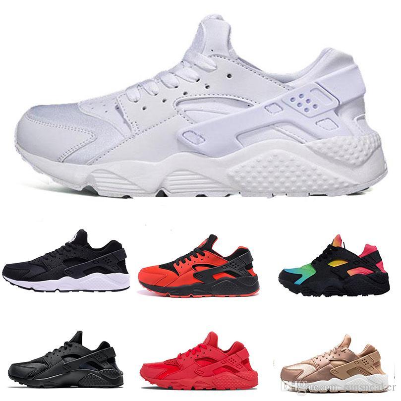 more photos 17868 5f7c0 Acquista 2018 Air Huarache 1.0 Rainbow Running Shoes Uomo Donna Huaraches  Sneakers Sportive Triple Bianco Nero Scarpe Da Corsa Di Design Maxes Taglia  36 46 ...