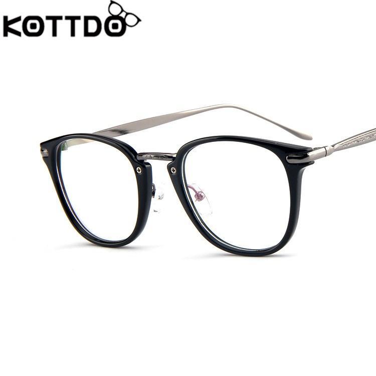 d9c9d98fecb 2019 KOTTDO New Glasses Frame Trendy Glasses Frame Fashion Frame Mirror Box  Men And Women Flat Mirror Optical Glasses Eyewear From Kwind