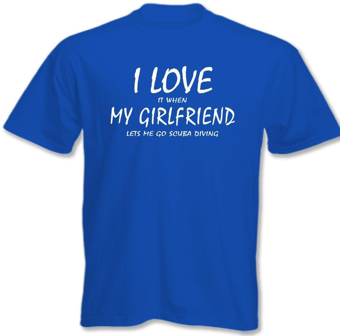 buy popular 470ee 16b81 I Love Meine Freundin - Gerätetauchen ~ Herren Lustige Tauchen T-Shirt 3XL  4XL