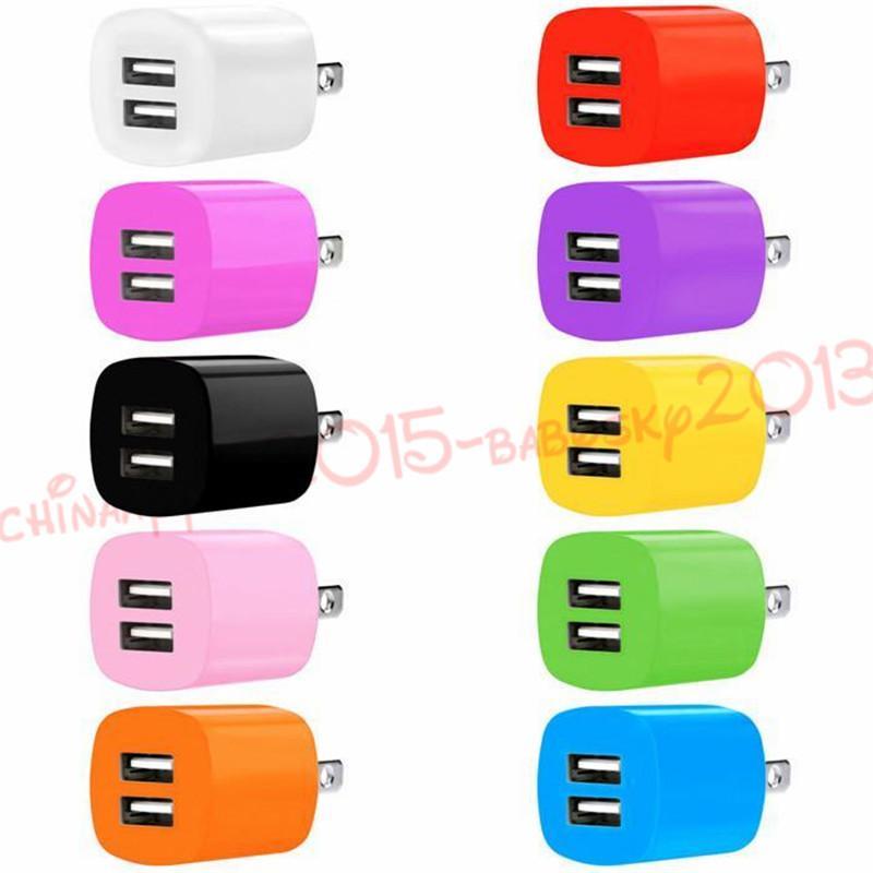 2A + 1A 듀얼 USB 포트 US EU AC 홈 여행 벽 충전기 전원 어댑터 삼성 갤럭시 S4 S6 S7 가장자리 주 4 MP3