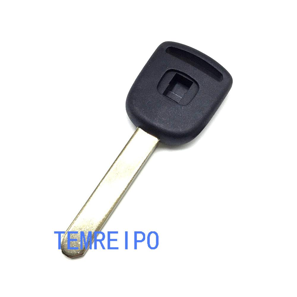 Uncut blade Car transponder key blank shell for honda accord fit city civic crv jade car chip key cover replacement key