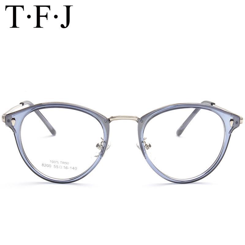 6217802c142 Vintage Korean Glasses Men Women Round Transparent Eyeglasses Optical Frame  TR90 Eyewear Mens Leopard Accessories Nerd Glasses UK 2019 From Frenky