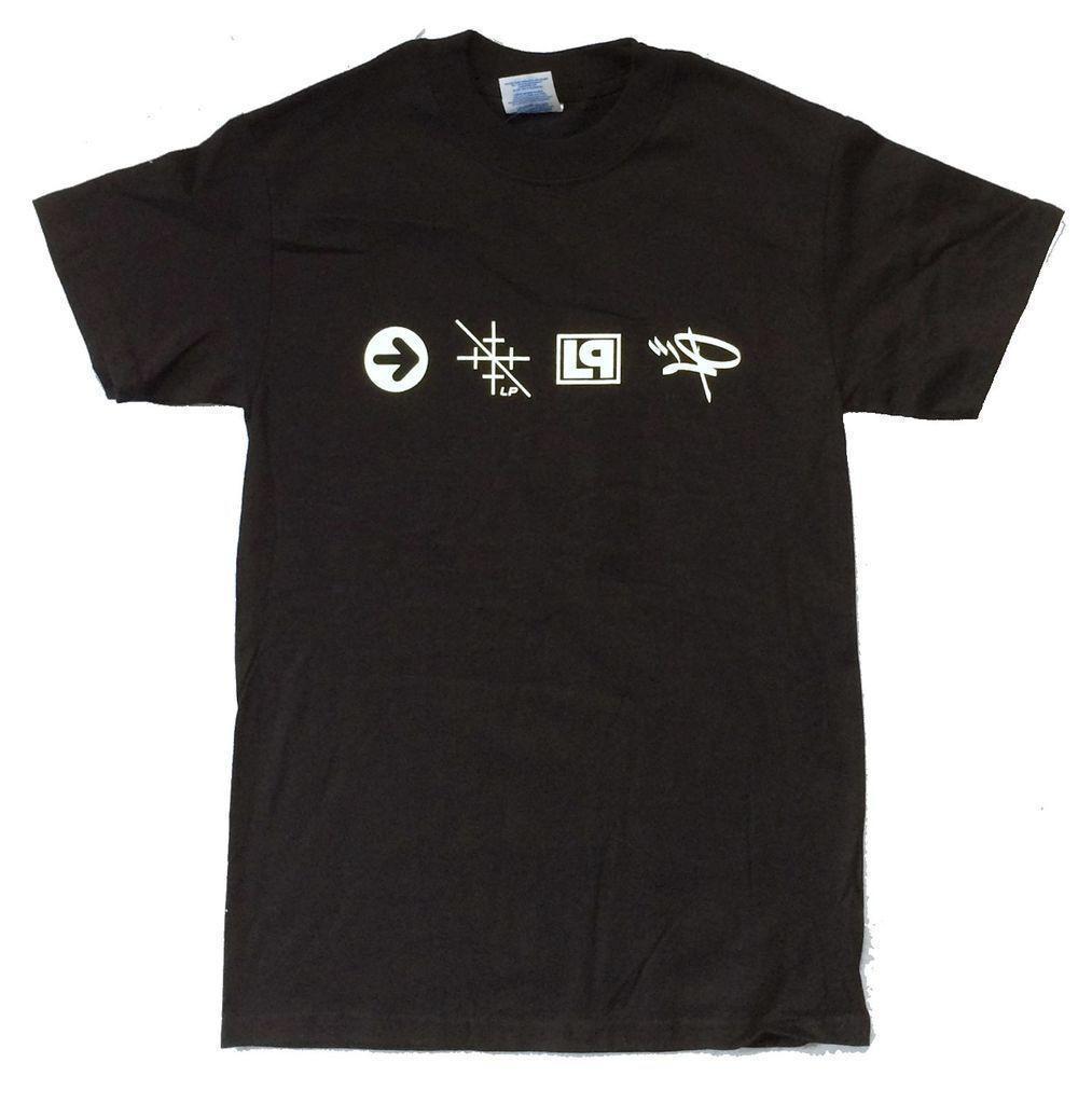 Linkin Park Icons Symbols Black T Shirt New Official Lp Merch Mens