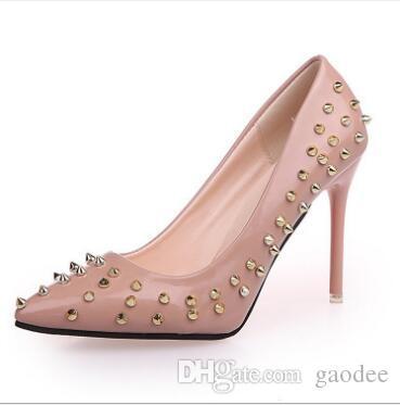 Brand Designer- new diamond sharp high heel shoes with fine medium and light sequins, wedding banquet, bridesmaid, fashion princess, women's
