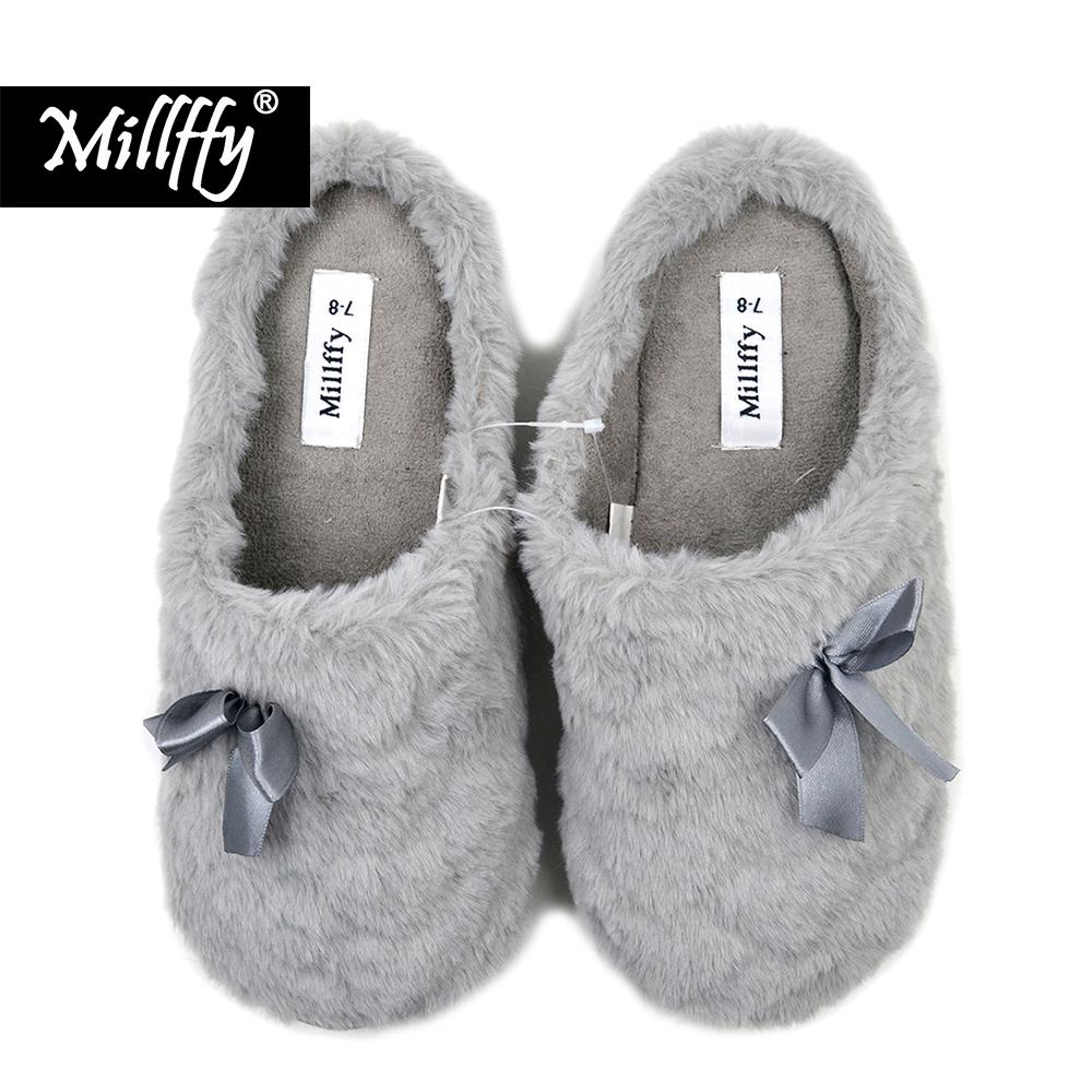 997d2e6f158 Millffy Winter Shoes Women Mens Chaussure Homme Indoor Slippers Winter Warm  Fuzzy Plush Fur Anti Slip House Bedroom Slippers Boys Slippers Acorn  Slippers ...