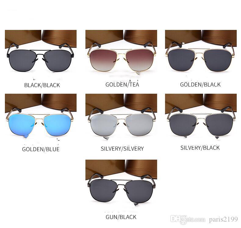 2018 새로운 높은 품질 남자 라운드 선글라스 남자 여자에 대 한 금지 UV 400 보호 태양 안경