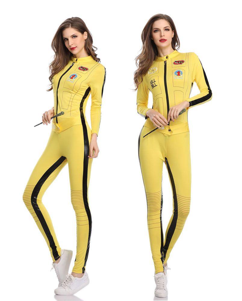fb500f057ede Sexy Lingerie Uniform Smiffy s Women s Kill Bill Costume Jumpsuit ...