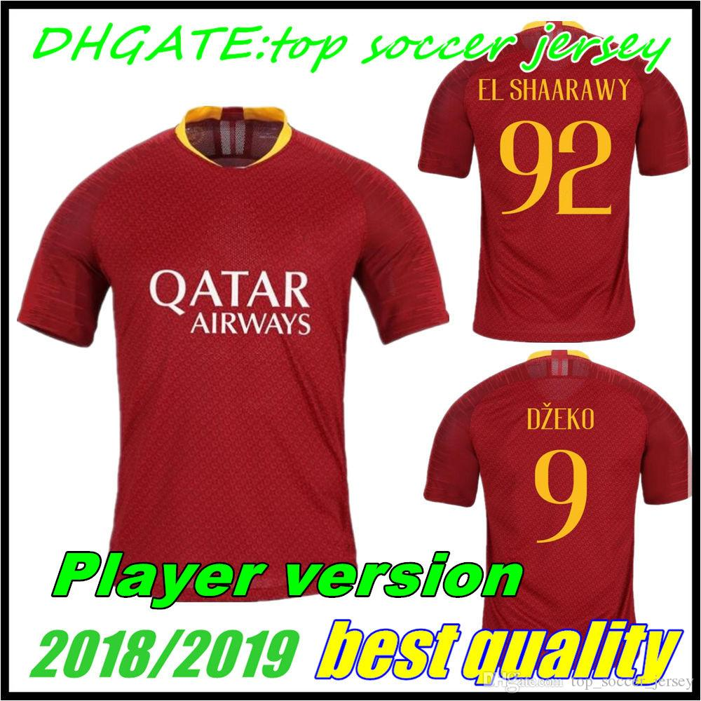 e2325c86e 18 19 Player Version Roma MATCH Soccer Jersey Home DZEKO 2018 2019 DE ROSSI  PEROTTI NAINGGOLAN Away Totti EL SHAARAWY Football Shirts UK 2019 From ...