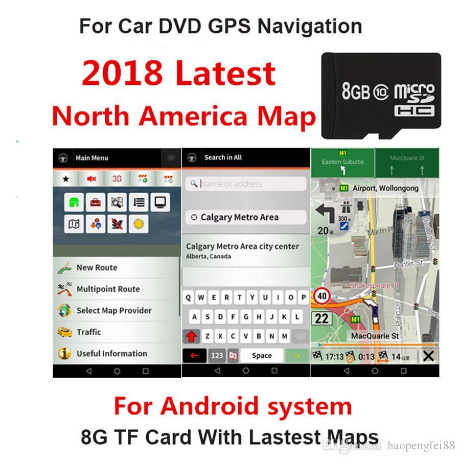Carte Gps Amerique Du Nord.Acheter 2018 Carte De Navigation Gps Carte Sd 8g Amerique Du Nord
