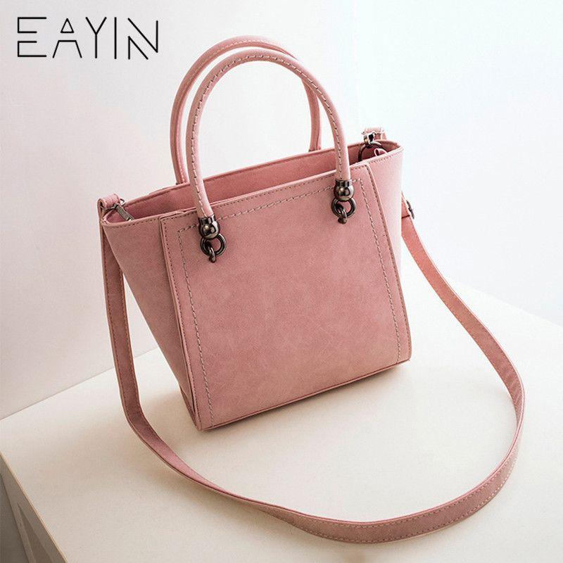 ad559d00da79 EAYIN Women Leather Handbag Vintage Nubuck PU Shoulder Bag Female ...