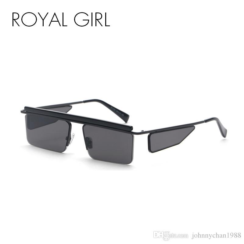 2beae11784 ROYAL GIRL Stylish Rectangle Sunglasses Men 2018 Brand Designer ...
