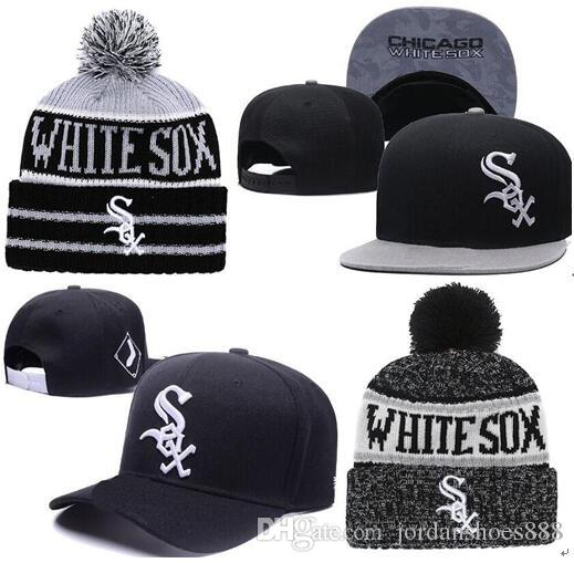 f17e5572ed7 2019 White Sox Hat Snapback Cap Champions Sox Beanie All Teams Men Women  Knitted Beanies Wool Hat Knit Bonnet Beanie Gorro Winter Warm Cap Kangol  Baseball ...