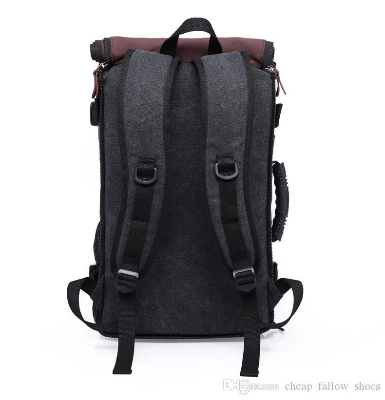 Marka lüks çanta Şık Seyahat Büyük Kapasiteli Sırt Çantası Erkek Bagaj Omuz Çantası Bilgisayar Sırt Çantası Erkekler Fonksiyonel Yönlü Çanta