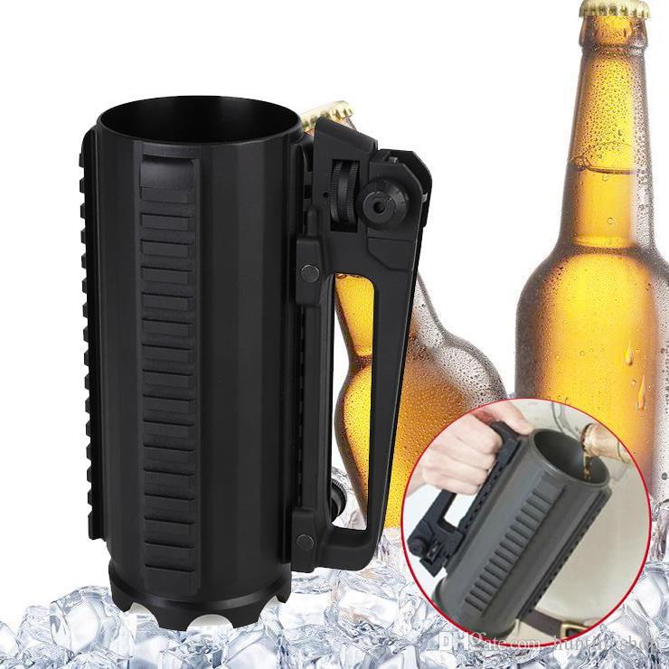 Hunting AR15 M4 gun accessories Tactical Beer Cup Water Battle Rail Mug Detachable Carry Handle With Mechanical Rear Sight piactinny rail