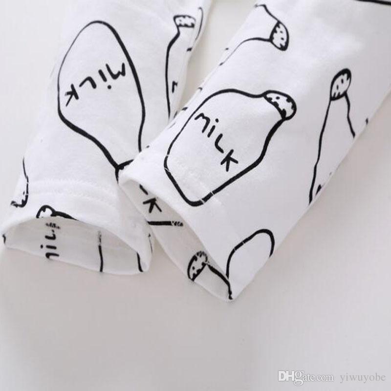 INS hotsale bebek çocuk giysileri set pamuk süt tasarımları setleri bahar sonbahar için longsleeves giysi set bebek kız ve erkek