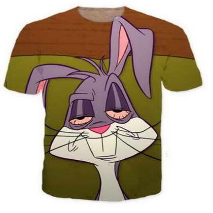 1afe84473c Cartoon Bugs Bunny 3D Funny Tshirts New Fashion Men/Women 3D Print  Character T Shirts T Shirt Feminine Sexy Tshirt Tee Tops Clothes Ya105  Latest Designer T ...