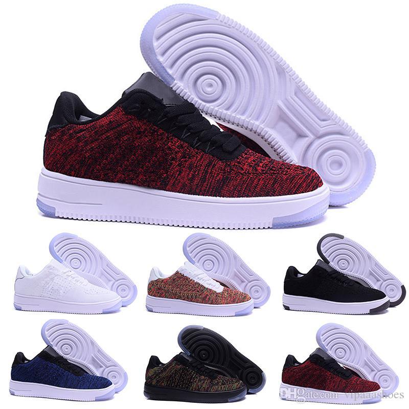 new product 21744 719ce Nike Air Force Oen 1 Flyknit One Af1 Flyknit 2018 Nueva Línea De La Mosca  Del Estilo Hombres Mujeres High Low Lover Zapatillas De Skate 1 One Knit  Eur Size ...
