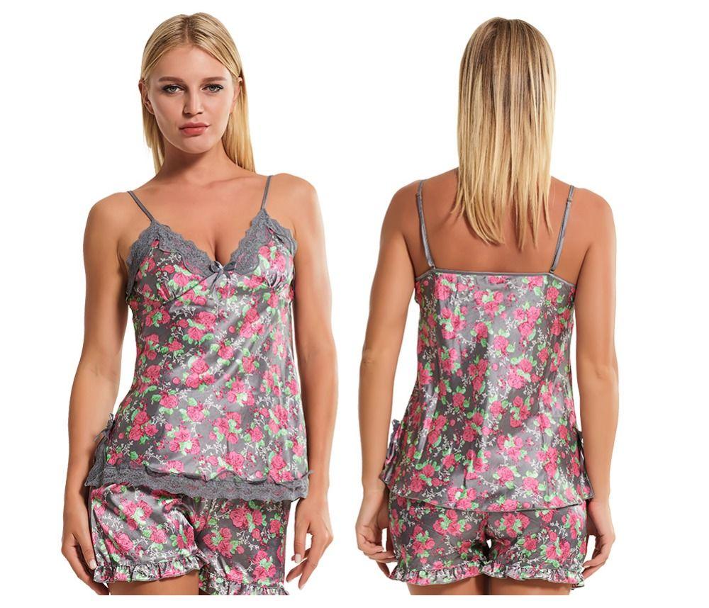 d22b8e5053 Women Sleepwear Home Clothes For Women Summer Negligee Women Short Dressing  Gown Pyjamas Sexy Pajamas Sets Sexy Under Wear Silk Nighties From  Homeworld