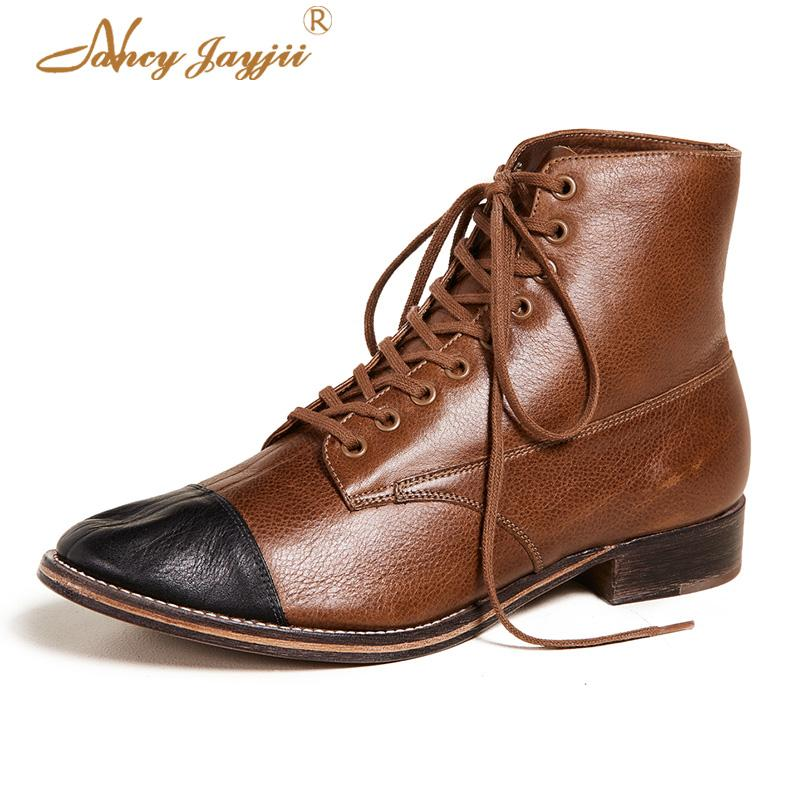 93a64043ef10b Brown 2018 Winter New Ankle Boots Woman Shoes Fashion Sexy Dress Party Lace  Up Short Plush Low Heel Big Size 43 42 39 Designer Office Shoes High Heels  From ...
