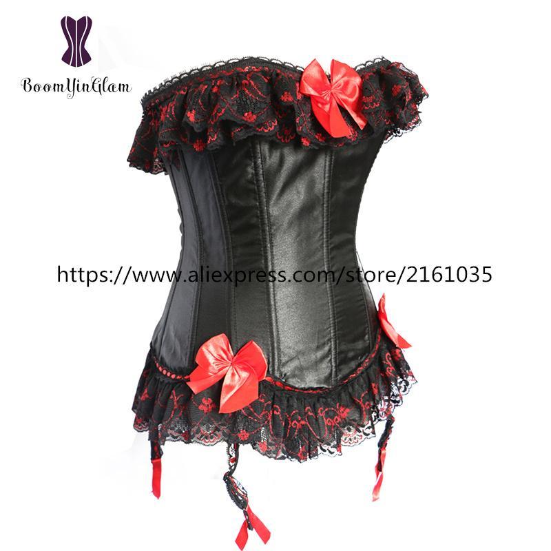 8069 # Haute qualité en gros prix mode arc corset et bustier Black Lace Up Bowknot Body Shaper taille corset Plus Taille S-6XL