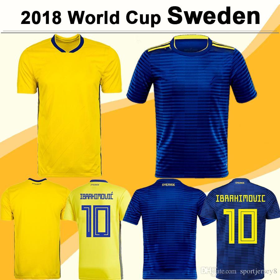 a9d101275fa 2019 2018 World Cup Sweden Soccer Jersey IBRAHIMOVIC KALLSTROM LARSSON  Football Jerseys National Team TOIVONEN MARCUS BERG Home Away Mens Shirts  From ...