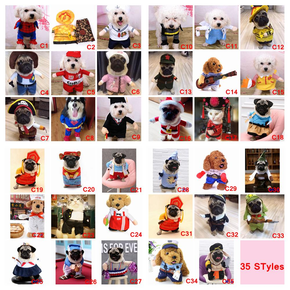 35 Styles Funny Dog Cat Pet Halloween Xmas Cosplay Set Christmas Costumes  Boxer Doctor Nurse Suit Pet Clothing Birthday Party Clothes AAA862