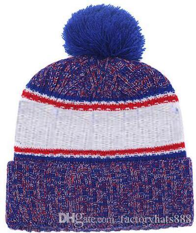 2019 Autumn Winter Hat Sports Hats Custom Knitted Cap With Team Logo  Sideline Cold Weather Knit Hat Soft Warm NY Giants Beanie Skull Cap Baby  Sun Hat Knit ... d882ee14f