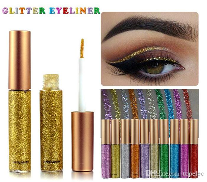 New makeup handaiyan Glitter Liquid Eyeliner Pen Metallic Shine Eye Shadow Liner