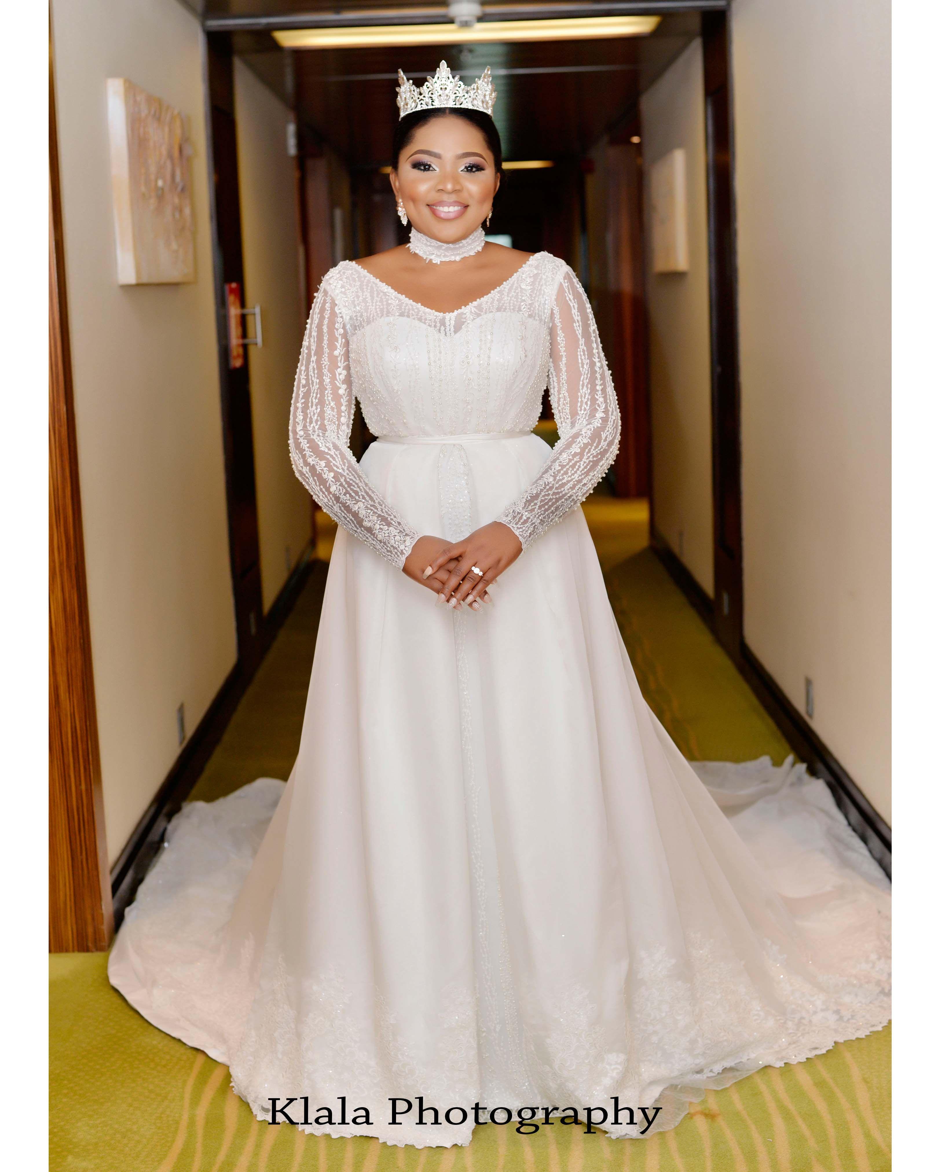 Vestido De Noiva Crystal Long Sleeve Pearls Wedding Dresses 2019 ...