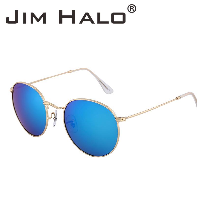 8b533356498 Jim Halo Retro Oval Round Steampunk Men Women Sunglasses Classic Vintage  Glasses Mirrored Lens Metal Frame Fashion Oculos De Sol Kids Sunglasses  Locs ...