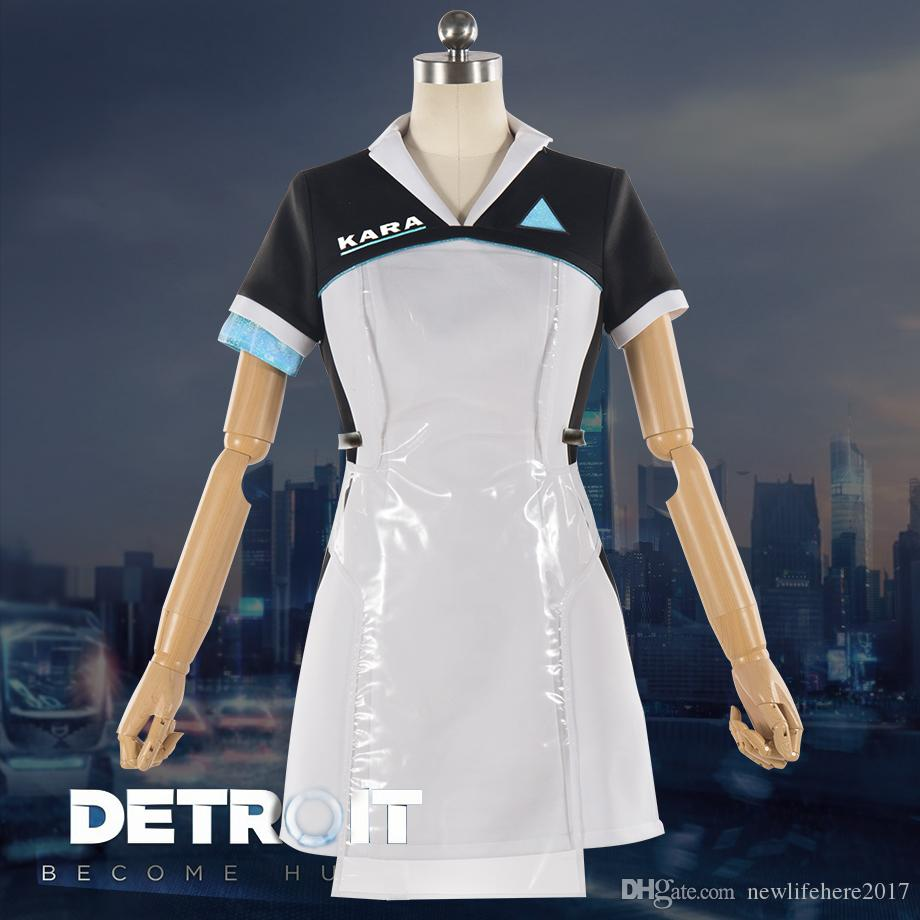 detroit: become human kara cosplay costume code ax400 agent outfit
