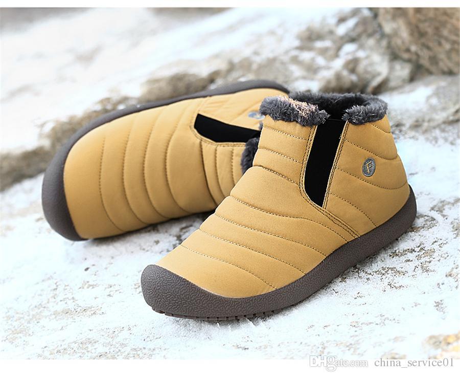 Acheter Livraison Gratuite Hiver Femmes Bottes De Neige Chaussures Cheville  Bottes Cowboy Slip Sur Bottes En Caoutchouc Imperméable Femme Fourrure  Chaude En ... 0bce0cb66cc3
