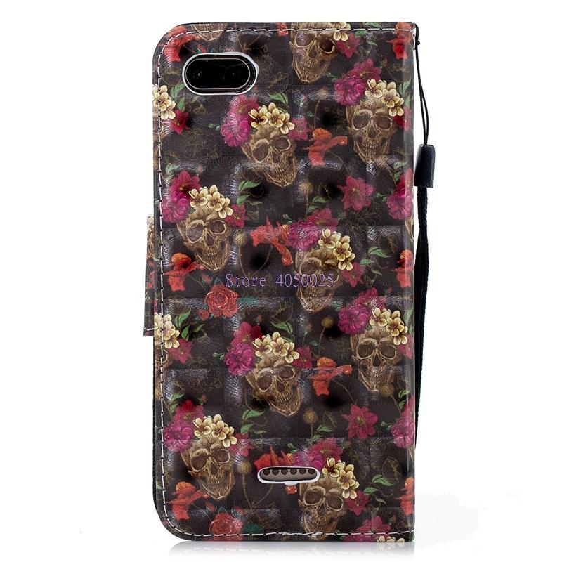 save off ce69b 0cdd1 Phone Case For Xiaomi Redmi 6 A Red Mi6A Flip Case For Xiaomi Redmi ...