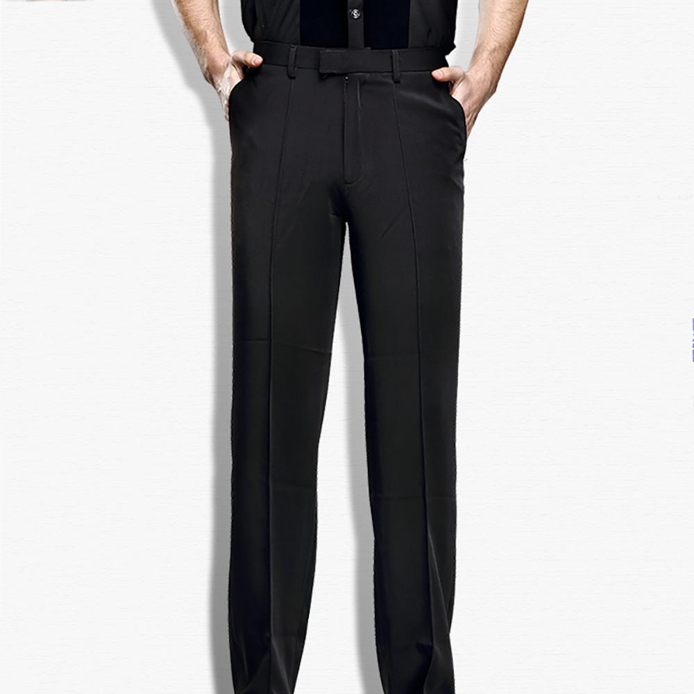 42736c71e28ee Compre Barato Pantalones De Baile Latino Para Hombre Color Negro Fringe  Fringe Cambric Pantalones Tela Hombres Salón De Baile Etapa Chacha  Pantalones ...