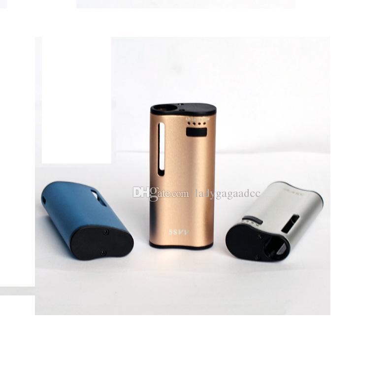 100%Original Mjtech 5S VV Vaporizer 2in1 Starter Kit Preheat 650mah Wax Thick Oil Cartridges Variable Voltage Vapor Mod Vape Pen e cigs Kits