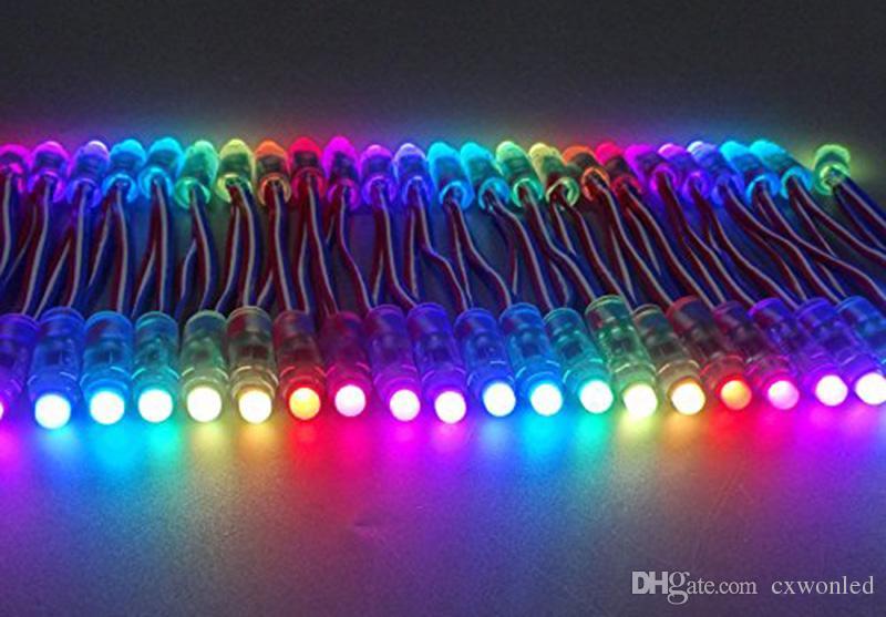 WS2811 IC كامل اللون بكسل الصمام سلسلة وحدة ضوء ضوء ماء 12MM ضوء البكسل الرقمية للإعلان