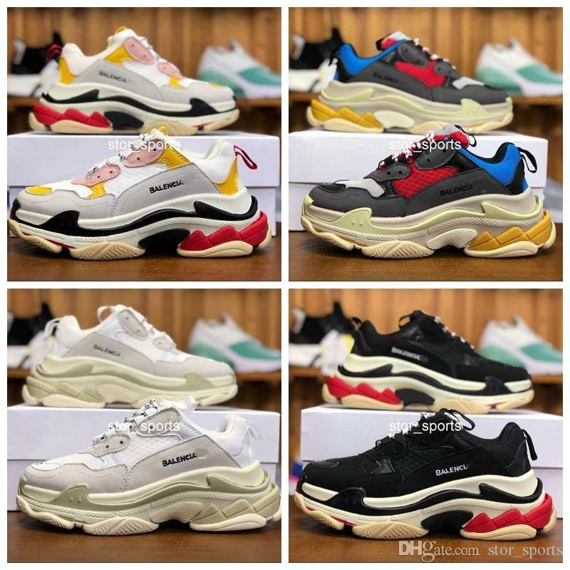 d4f28759af8e88 Fashion Paris 17FW Triple-S 2018 Triple S Sneaker Casual Luxury Dad ...