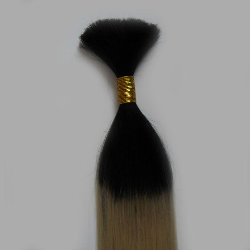 T1B/613 Blonde ombre hair extensions Human hair for braiding bulk no attachment 1 Bundles 100g Brazilian Straight hair wholesale
