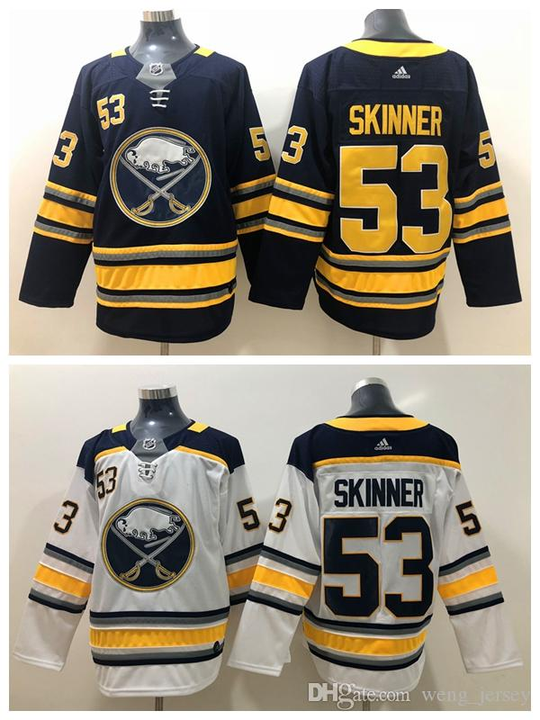 100% authentic 3bac6 6a7f3 2019 Mens 53 Jeff Skinner Buffalo Sabres Hockey Jerseys Stitched Embroidery  Sabres Jeff Skinner Home Away White Navy blue Ice Hockey Jersey