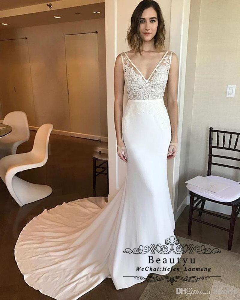 0a6885152b9 Designer 2018 Mermaid Wedding Dresses Bridal Gowns Plus Size Sexy ...