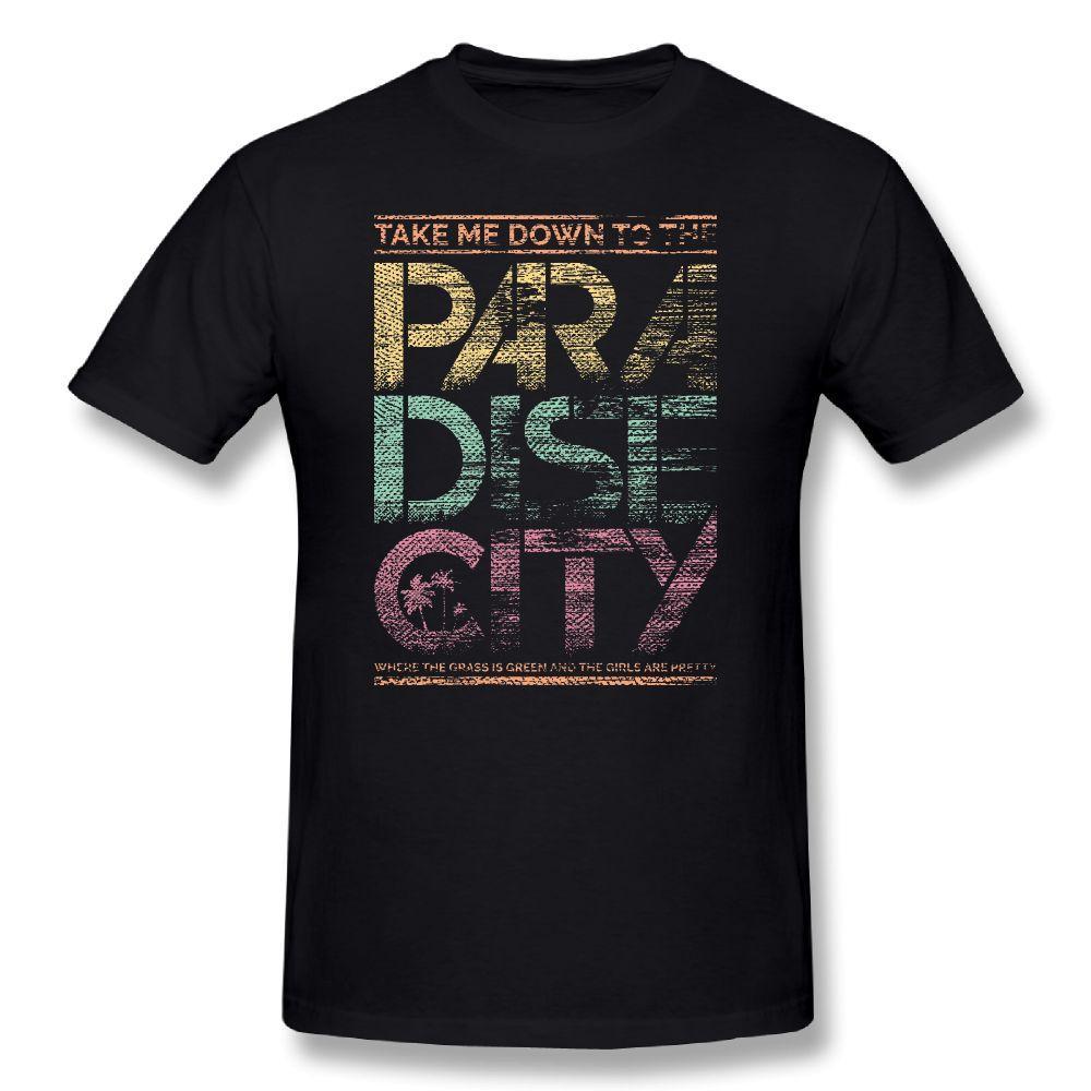 db3d45de44d Guns N Roses T Shirt Men Paradise City Letter Print Awesome Plus Size 5XL  6XL T Shirt Men S Short Sleeve Cotton Music Tee Shirt Online T Shirt  Printing On T ...