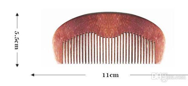 Toilettage Pocket Barbe Peigne en bois fine Toot Vente en gros de haute qualité fait main verte de bois de santal corne de boeuf Peigne cadeau