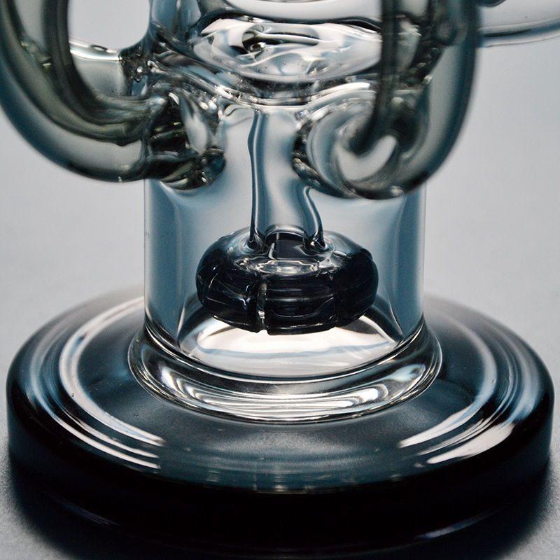 Arme Octopus Recycler Bong Glas Wasserrohre Showerhead Percolator Abtupfen Öl Rigs Rauchen Glas Wasser Bongs 14,5 mm Joint HR025