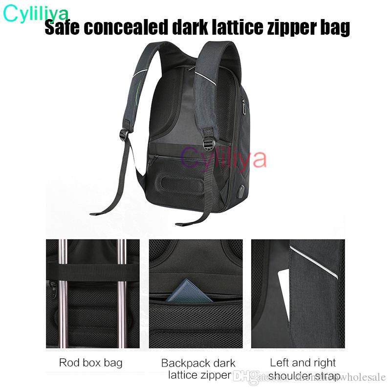 2017 New USB Charge Men Anti Theft Travel Backpack 16 Inch Laptop Backpacks For Male Waterproof Backpacks Bags Wholesale