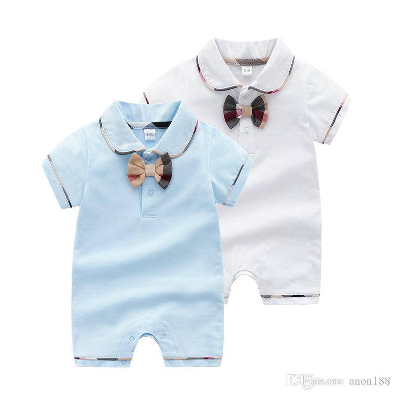 d72b2008e6ed 2019 Newborn Baby Boy Girls Rompers Summer Baby Clothes Romper ...