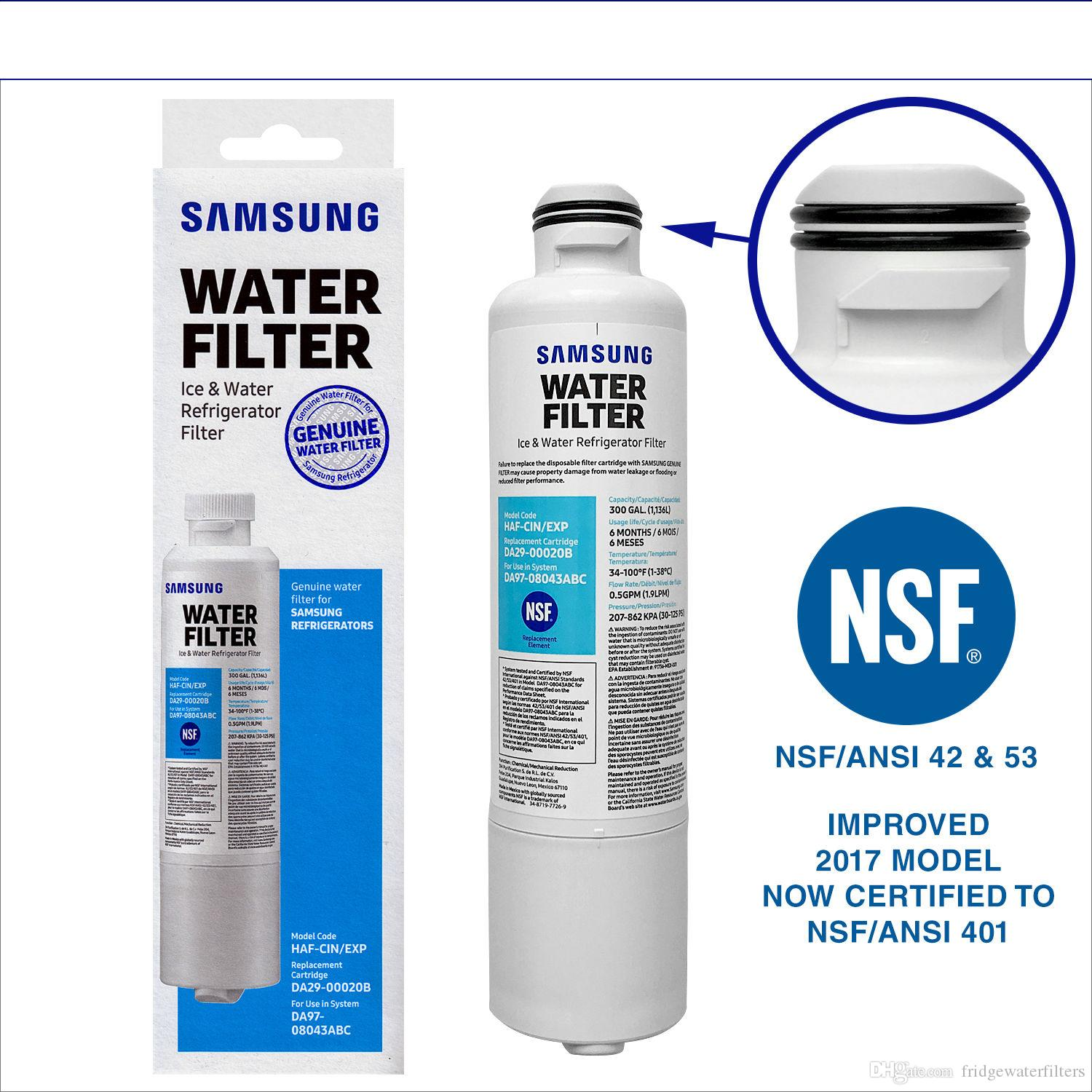 samsung fridge water filter. 2018 New Refrigerator Water Filter Replace For Genuine Samsung DA29-00020B SRF679SWLS SRF719DLS US Stock Free Fridge L