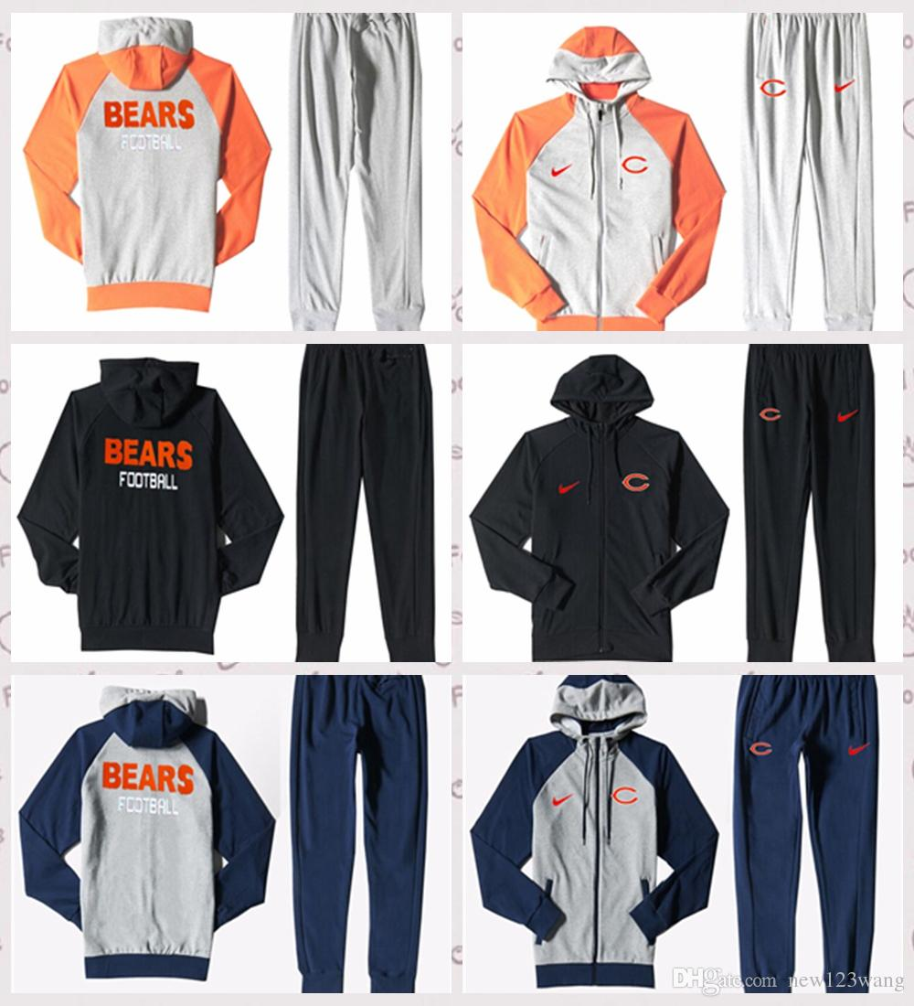 Cheap 2019 Chicago Bears Autumn Men'S Print Full Zip Sportswear Men'S  supplier