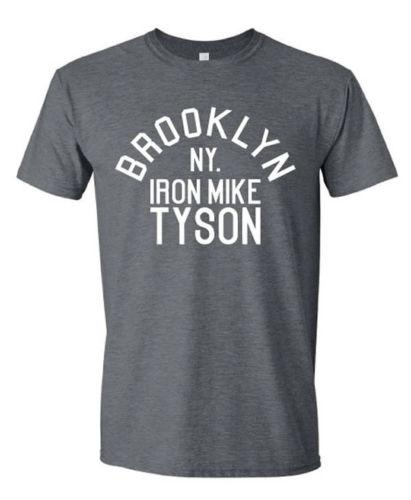 a3ec5c5a2f685 Acheter Mike Tyson Brooklyn NY Mens TShirt Boxe Rétro Rocky Balboa Stallone  S XXL GrisFunny Livraison Gratuite Unisexe Casual Tee Cadeau De  12.96 Du  ...