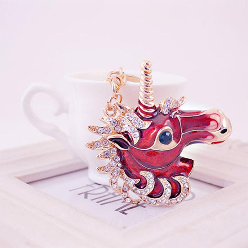 Cute Unicorn Keychain Alloy Rhinestone Car Keyrings Womens Luxury Keychains  Jewelry Girls Bag Charm Key Ring Pendant Gifts Cheap Kids Party Favors  Cheap ... d0546587c9