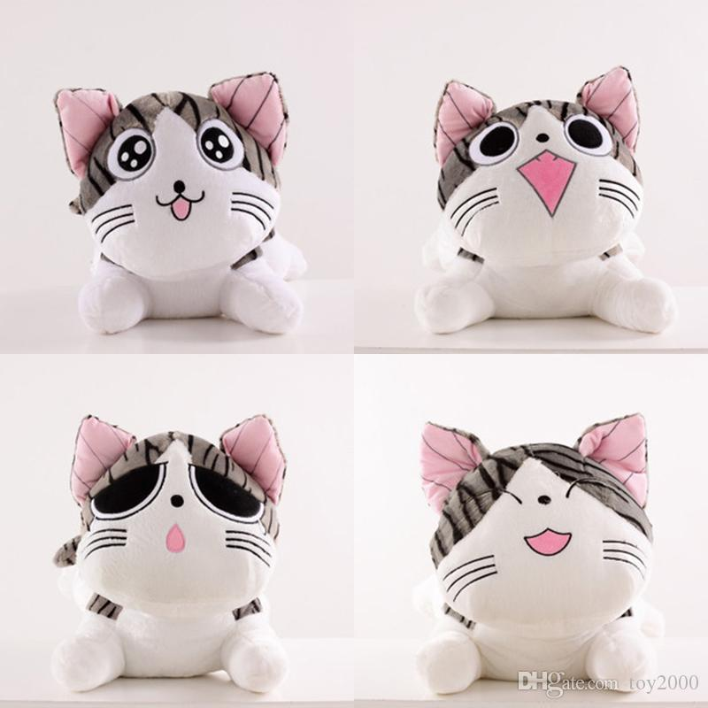 Soft 20cm Plush Toys Christmas Birthday Gifts Japan Anime Figure Cheese Cat Stuffed Toy Doll Pillow Cushion Kawaii For Kid Animals